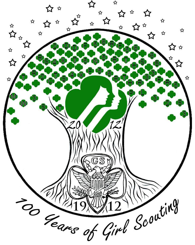 GC5X72E Girl Scout Logo #26: 100 Years of Girl Scouts ...